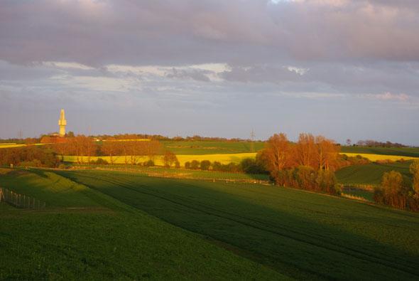 Der Horchposten von Großenbrode in der Abendsonne