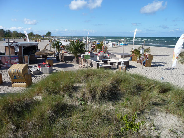 Steife Brise am Strand