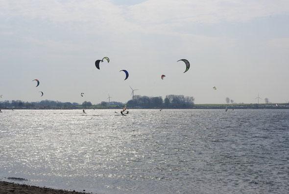 Kiter auf dem Binnensee