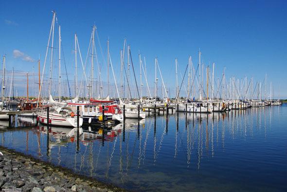 Der Yachthafen lockt im Sommer zahlreiche Segler an