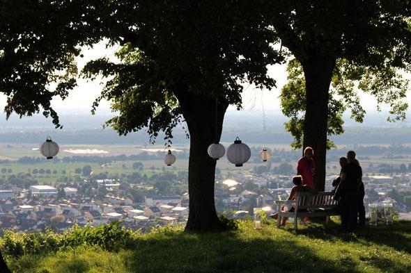 Mit Blick auf Bensheim