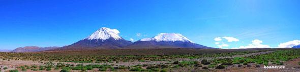 Vulkane am Paso de Jama