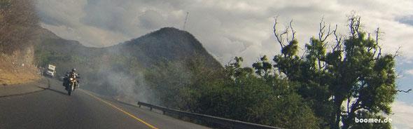 Rauchwolken der Müllverbrennung