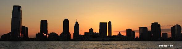 Die Skyline von Jersey City