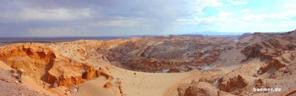 Blick ins Valle de la Luna