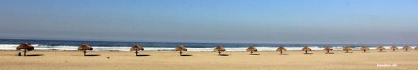 Strand - wohin man blickt...