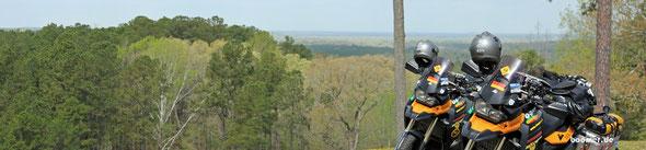 Der höchste Punkt des Parkway - sind aber nur rund 600 ft