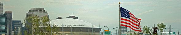 Wohl inzwischen das bekannteste Gebäude New Orleans - der Superdome