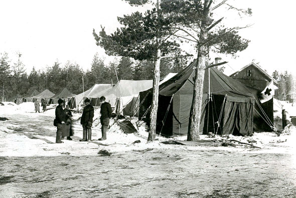 ППГ № 500 близ станции Лейпясуо. Финская война. Фото из коллекции ВММ.