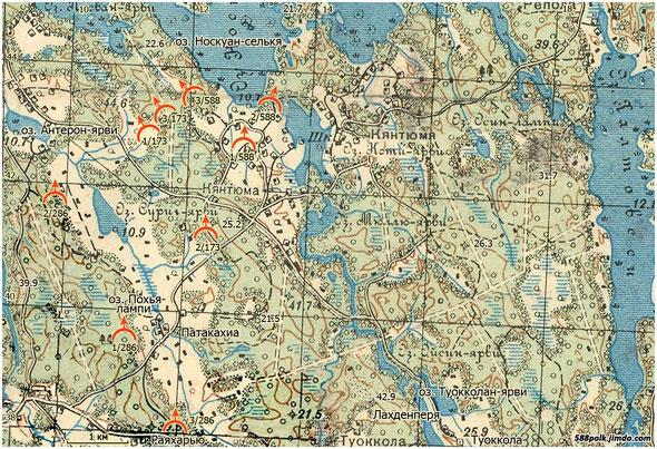 Расположение частей 90-й стрелковой дивизии 09.03.40 г.