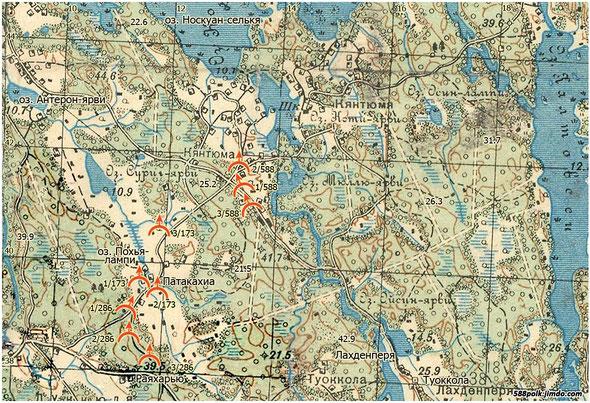 Расположение частей 90-й стрелковой дивизии 05.03.40 г.