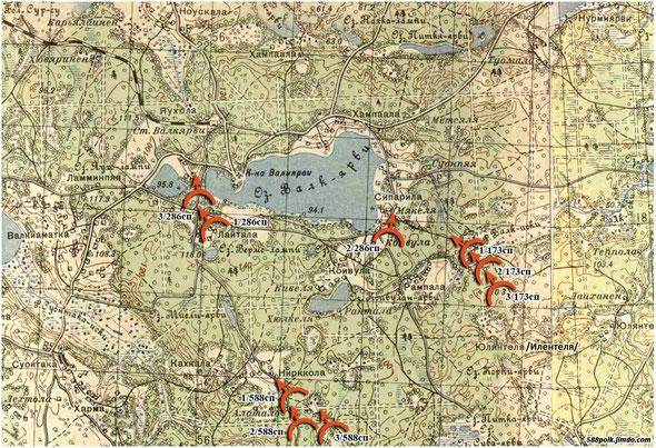 Расположение частей 90-й стрелковой дивизии 03.12.39 г.