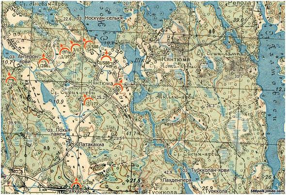 Расположение частей 90-й стрелковой дивизии 11.03.40 г.