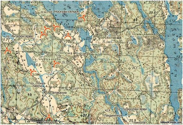 Расположение частей 90-й стрелковой дивизии 10.03.40 г.