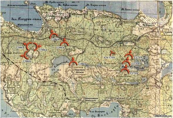 Расположение частей 90-й стрелковой дивизии 06.12.39 г.
