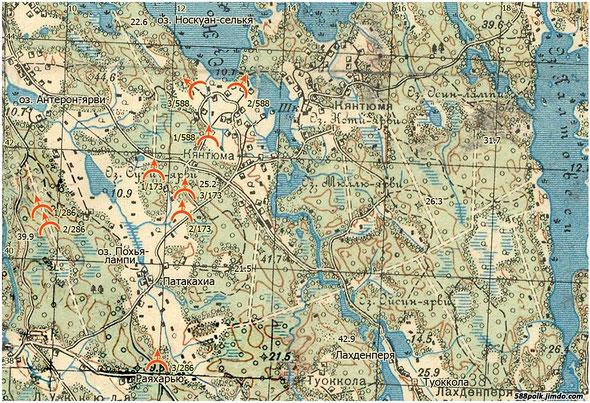 Расположение частей 90-й стрелковой дивизии 06.03.40 г.