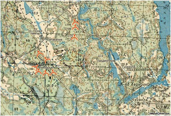 Расположение частей 90-й стрелковой дивизии 04.03.40 г.