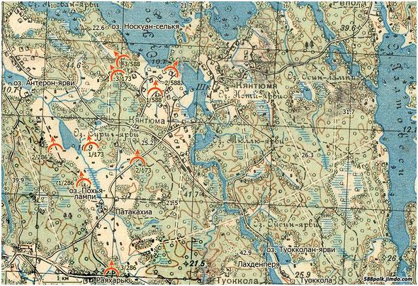 Расположение частей 90-й стрелковой дивизии 08.03.40 г