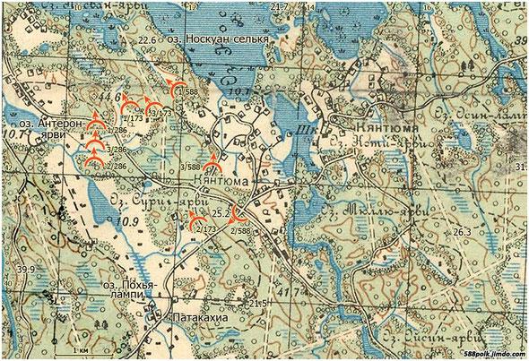 Расположение частей 90-й стрелковой дивизии 12.03.40 г.