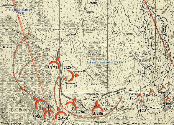 90-я стрелковая дивизия в районе Меркки 12.02.40