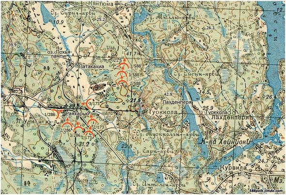 Расположение частей 90-й стрелковой дивизии 03.03.40 г.