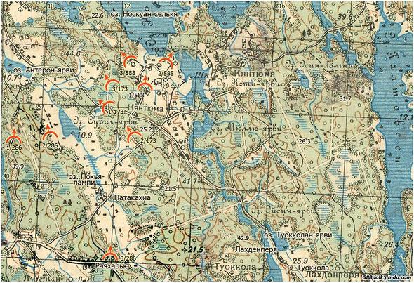 Расположение частей 90-й стрелковой дивизии 07.03.40 г.