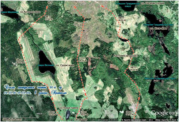 Схема наступления частей 90-й стрелковой дивизии                             04.03.40 - 13.03.40 г. в районе Кантюмя.