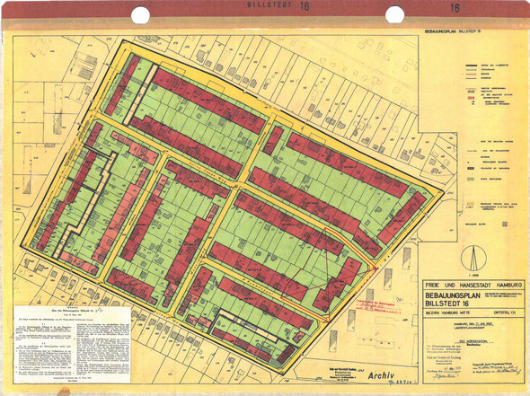 Beispiel eines Bebauungsplanes, der für die Projektplanung benötigt wird.