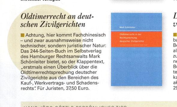 Oldtimerrecht Motor Klassik Buch Rezension Schönleiter
