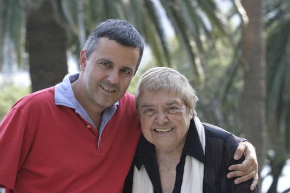 Luca Centoni with famous writer Fernanda Pivano