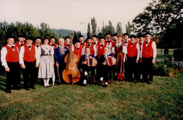1993 mit der Musikkapelle Muttenzerfeld