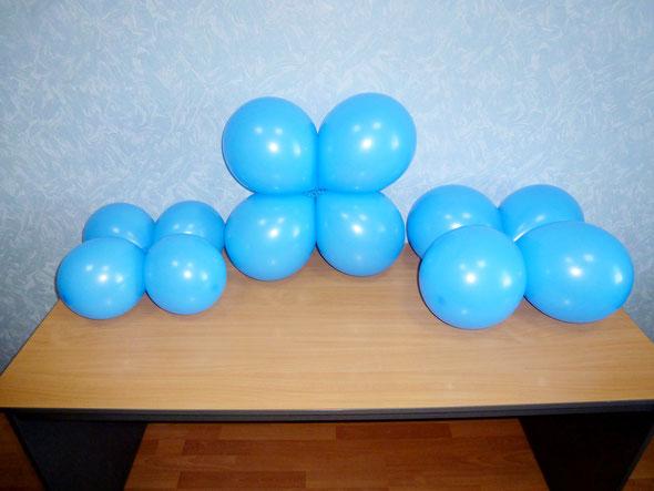 четверки калиброванных воздушных шаров