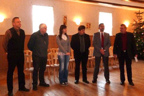 Begrüßung durch den Ortsbürgermeister und den Ortsratsmitgliedern