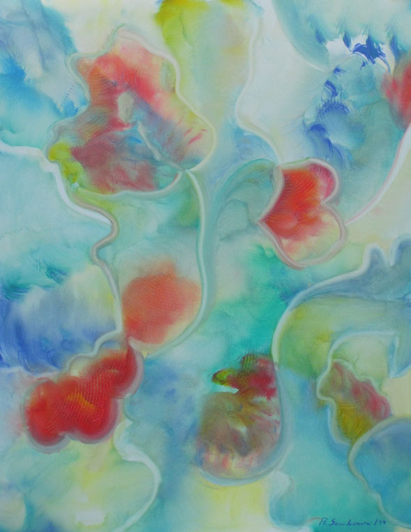 Visionelle Kunst - Britta Sembowski - HERZLICHKEIT - Spirituelle Kunst - Acrylmalerei - Unikat kaufen - Heartiness