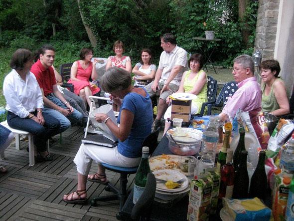 Le barbecue 2012 de la chorale chez Anne