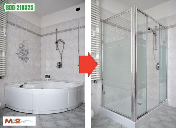Vasca bagno con cabina doccia cabina idromassaggio con - Vasca da bagno piccola con doccia ...