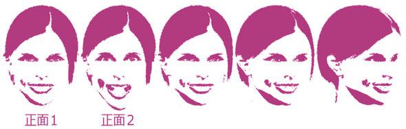 ブライダルパラパラ漫画の似顔絵用写真