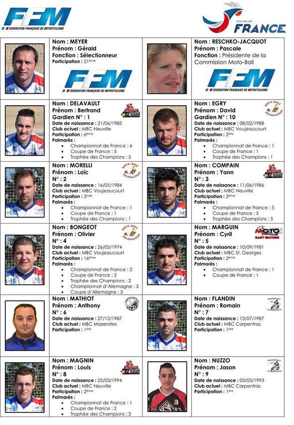 Nationalmannschaft Frankreich 2015