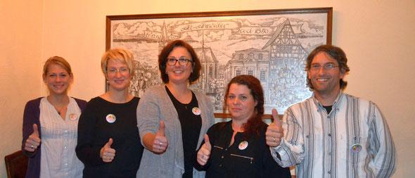 (v.l.): Claudia Weber (Beisitzerin), Heike Metzger (Kassiererin), Jessica Ulrich (1.Vorsitzende), Tanja Surget (2.Vorsitzende), Uwe Bodenheim (Schriftführer).