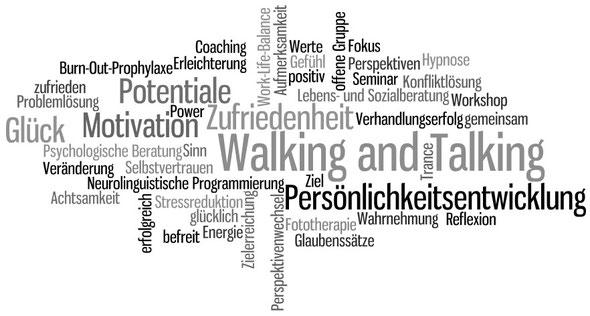 Walking and Talking, Persönlichkeitsentwicklung, Zufriedenheit, Potentiale, Motivation, Glück, Veränderung, Selbstvertrauen, Lebens- und Sozialberatung, Perspektivenwechsel, Reflexion, Achtsamkeit