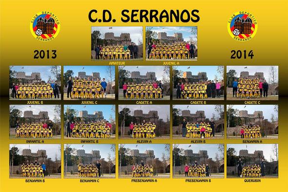 CD Serranos, fútbol 8, fútbol 11
