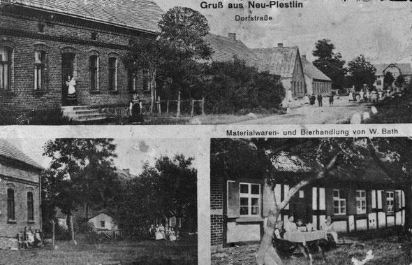 oberes Foto: ganz rechts - mein Elternhaus  (Datum der Aufnahme leider unbekannt)
