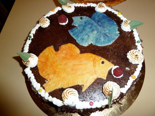 Gâteau à l'effigie des bettas