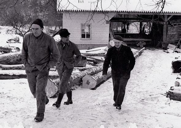 Photo de famille, de gauche à droite : Martial, Raymond et Louis.