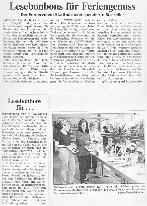 Jülicher Zeitung vom 12.08.02