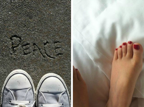my feet in San Francisco and in Shanghai