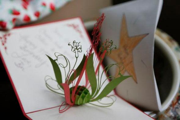 Chinese Papercut Greeting Card