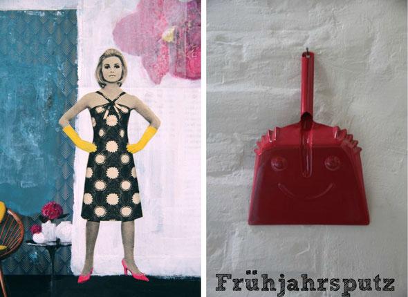 my artwork in China & a dustpan in a beautiful B&B in Santa Cruz