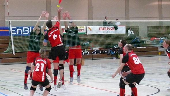 Indiaca Team des TV Eberbach im Spiel gegen Malterdingen