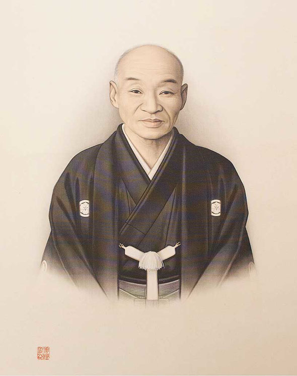 今井栄蔵氏の肖像画。